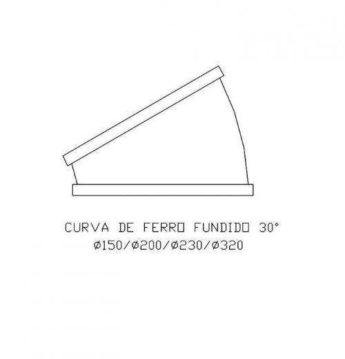 Curva de Ferro Fundido 30º